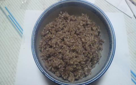 玄米と黒米のご飯