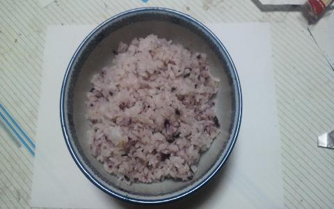 白米と黒米のご飯